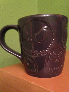 Grey Ceramic Disney Nightmare Before Christmas Jack Skellington Mug
