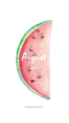 Free Phone Wallpaper Design. August 2016 // Kendra Castillo