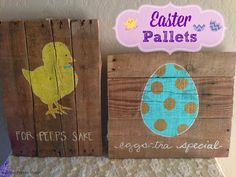 Salt and Pepper Moms: Easter Pallet Art  ~ shared at DIY Sunday Showcase Link Party on VMG206 (Saturdays at 5pm CST). #diyshowcase