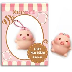 Just ordered this adorable pig! Kawaii Plush, Kawaii Pig, Kawaii Stuff, Silly Squishies, Mini Things, Little My, Plushies, Marshmallow, Christmas Gifts