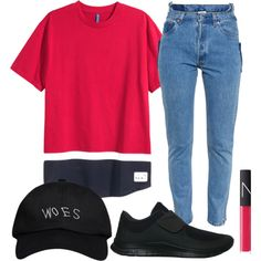 A fashion look from October 2015 featuring Vetements jeans, NIKE sneakers and October's Very Own hats. Browse and shop related looks.