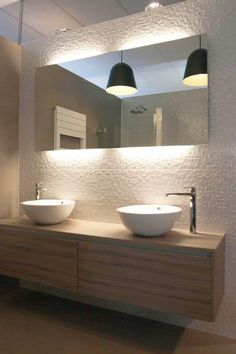 18 Modern options for high quality bathroom lighting - 18 Modern options for high quality bathroom lighting # guest toilet - Zen Bathroom, Bathroom Inspo, Bathroom Renos, Bathroom Layout, Modern Bathroom Design, Bathroom Furniture, Bathroom Inspiration, Bathroom Interior, Small Bathroom