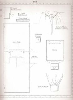 pattern for men's shirts, add higher collar and ruffle 18th Century Clothing, 18th Century Fashion, Historical Costume, Historical Clothing, Mens Shirt Pattern, Shirt Patterns, Pants Pattern, Dress Patterns, Clothing Patterns
