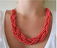 Quick Coral Statement Necklace