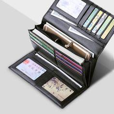 Best RFID Wallet For Women Blocking Wallet Trifold Ladies Luxury Leather Clutch Travel Purse