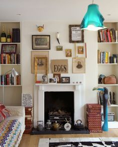 Country chic style fireplace mantel