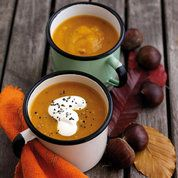Chestnut and butternut squash soup | Easy soup recipes