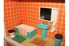 Vintage Bodo Hennig bathroom #vintagedollhouse