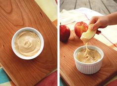 Brown Sugar Apple Dip - soo good my mother always makes this exact recipe. 3 ingredients :)