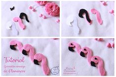 Tutorial de Flamencos Flamingo Craft, Color Rosa Claro, Pom Pom Bag Charm, Diy Cardboard, Pom Pom Hat, Pink Flamingos, Creative Crafts, Hobbies And Crafts, Barbie Clothes