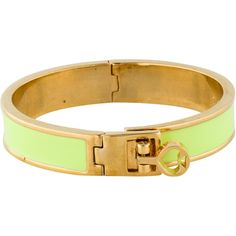 Pre-owned Kate Spade New York Neon Enamel Hinged Bangle ($45) ❤ liked on Polyvore featuring jewelry, bracelets, kate spade bangle, kate spade, bracelets bangle, enamel jewelry e enamel bangle bracelet