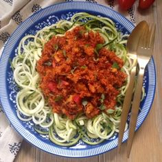 The Vegetarian Atkins Diary : Low carb cauliflower bolognese