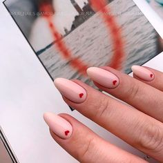 Beautiful naked nails with heart Accent❤ 35 amazing nude nail design ideas . - Beautiful naked nails with heart Accent❤ 35 amazing nude nail design ideas that you … - White Gel Nails, Gold Nails, Nude Nails, Pink Nails, My Nails, Black Nails, Coffin Nails, Valentine's Day Nail Designs, Acrylic Nail Designs