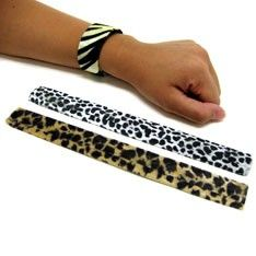 slap bracelets. the ultimate accessory lol