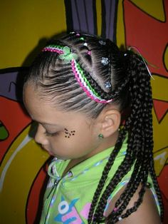 Hairstyles for girls with easy and simple BRAIDS 2019 - Hair Cut Styles Baby Girl Hairstyles, Pretty Hairstyles, Easy Hairstyles, Toddler Hairstyles, Hairstyle Ideas, Natural Hair Art, Natural Hair Styles, Long Hair Styles, Kid Braid Styles