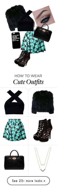cute winter outfit by vaughns on Polyvore featuring H Brand, Motel, Mulberry and Michael Kors