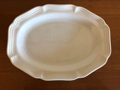 "Mikasa French Countryside Oval Serving Platter 14 1/2"" F9000 #Mikasa Mikasa French Countryside, Crystal Glassware, China Dinnerware, Serving Platters, Pie Dish, Peach, Italy, Serving Plates, Italia"