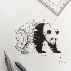 Geometric Beasts | Panda
