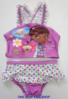 DOC MCSTUFFINS Girls 2T 3T 4T 5T Bathing Swim Suit SWIMSUIT Tankini DISNEY