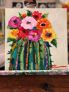 What is Your Painting Style? How do you find your own painting style? What is your painting style? Cactus Painting, Cactus Art, Painting & Drawing, Cactus Flower, Cactus Decor, Painting Process, Succulents Painting, Cute Canvas Paintings, Acrylic Painting Canvas
