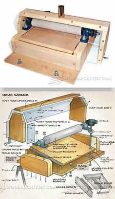 DIY Thickness Sander - Sanding Tips, Jigs and Techniques - Woodwork, Woodworking, Woodworking Plans, Woodworking Projects Wood Carving Tools, Wood Tools, Diy Tools, Essential Woodworking Tools, Woodworking Guide, Woodworking Projects, Woodshop Tools, Garage Tools, Sanding Tips