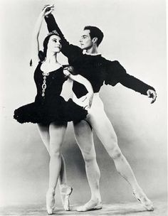 """Rochelle Zide and Gerald Arpino in """"Pas De Dix"""" Choreography by George Balanchine."""