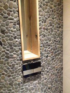 Leuk idee voor de achterwand van ons nieuwe toilet.......