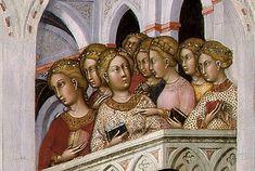 Paolo di Giovanni Fei - Presentazione della Vergine al Tempio, dettaglio - c. 1400 - tempera su tavola - Washington, National Gallery of Art