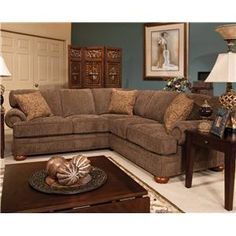 England Monroe Sectional Sofa In Cornell Pewter Accent Pillows Tulsa Classic Home Pinterest