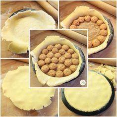 Crostata amaretti e crema al cioccolato