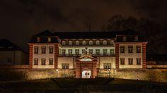 Zitadelle in Mainz bei Nacht