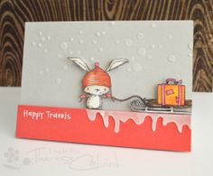 Birch gets all funky….  for Purple Onion Designs (video). NOTE: Purple Onion stamps are on my wish list. Isn't that little bunny cute?!