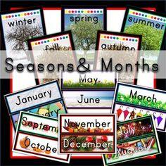 Editable kindergarten calendar pack with real pictures