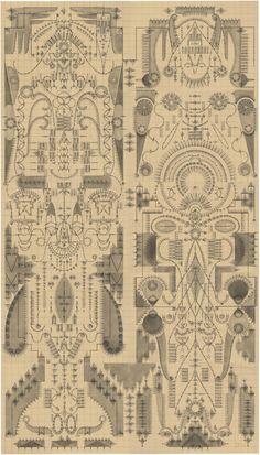 Beautiful geometric designs by Louise Despont