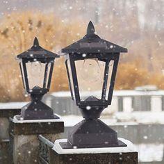 Solar Lamp Post Light, Solar Post Lights, Best Solar Lights, Lamp Post Lights, Outdoor Post Lights, Outdoor Lighting, Solar Powered Lamp, Solar Products, Diy Products