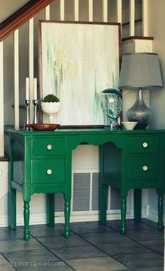 #Emerald green #vintage desk