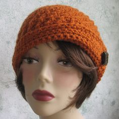 Crochet HAT PATTERN- Spiral Rib With Flapper Style Brim  PDF Easy To Make- Resell finished