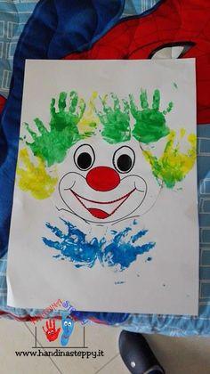 clown con impronte