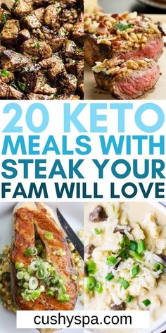 You can still enjoy incredible steak dinners while staying in ketosis on a keto meal plan when you make these mouth-watering keto steak recipes. You can enjoy low carb steak for more keto meals this week. #Keto #Steak