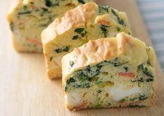 サーモン・ほうれん草・クリームチーズのケークサレ | 天使のお菓子レシピ | 森永製菓株式会社