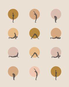 sun salutation I - saffron Framed Art Print by Urban Wild Studio Supply - Vector Black - MEDIUM Zen Room Decor, Yoga Drawing, Yoga Illustration, Relaxing Yoga, Yoga Art, Morning Yoga, Yoga Meditation, Yoga Inspiration, Framed Art Prints