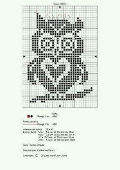 Cross Stitch Owl, Cross Stitch Animals, Cross Stitch Charts, Cross Stitch Designs, Cross Stitching, Cross Stitch Embroidery, Cross Stitch Patterns, Filet Crochet Charts, Knitting Charts