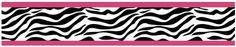 Amazon.com: Funky Zebra Baby, Kids and Teens Wall Paper Border by Sweet Jojo Designs: Baby