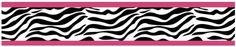 Amazon.com: Funky Zebra Baby, Kids and Teens Wall Paper Border by Sweet Jojo Designs: Baby