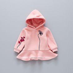 2017 Princess Girls Sweatshirts Embroidery Baby Kids Pleated Coats Autumn Fashion Girl Tops Hoodies //Price: $111.78 //     #kids