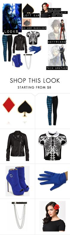 """""""Amnesia anime oc"""" by bandloverforever12 ❤ liked on Polyvore featuring Alison Lou, SET, Killstar, JustFab and Alyx"""