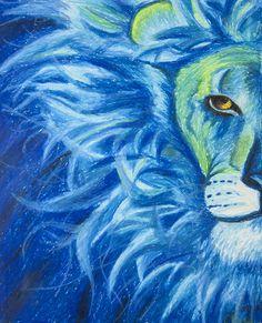"""Lion"" by Chelsea Dublin Oil pastel.  #art #drawings #handmade #lions"