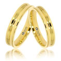 Verighete ATCOM ATC601 aur galben. Modelul acestor inele de nunta poate fi executat si din aur roz sau alb!