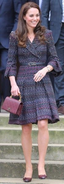 18 March 2017 Blue Chanel Striped Cotton Tweed Frock Coat