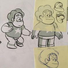 development art from Lead Character DesignerDanny Hynes:  Proto models sheets. Check out the two part mid season finale tonight!!!! Mirror Gem/Ocean Gem